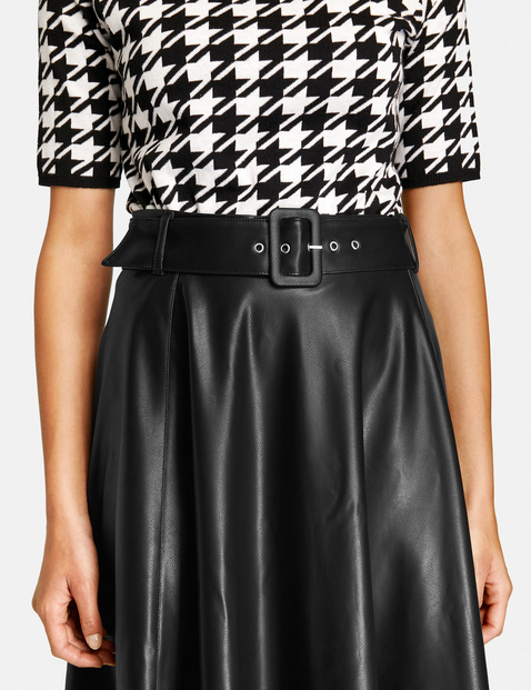 A-line skirt in faux leather