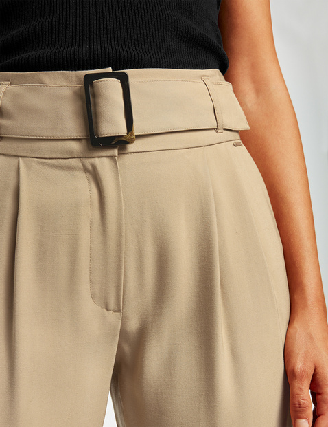 High-waisted paperbag trousers