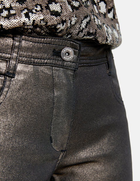 Trousers with a glitter effect, Super Skinny TS