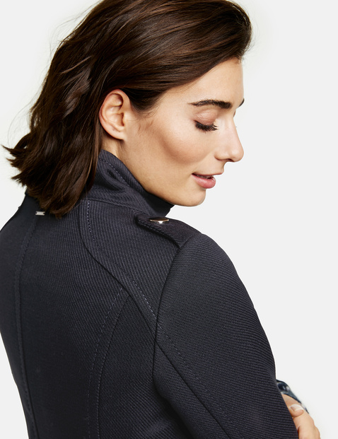 Coat with a stand-up collar