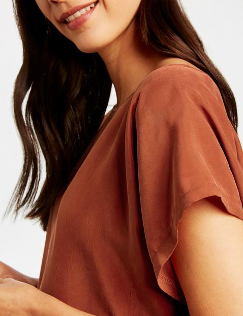 Blouseachtig shirt van cupro