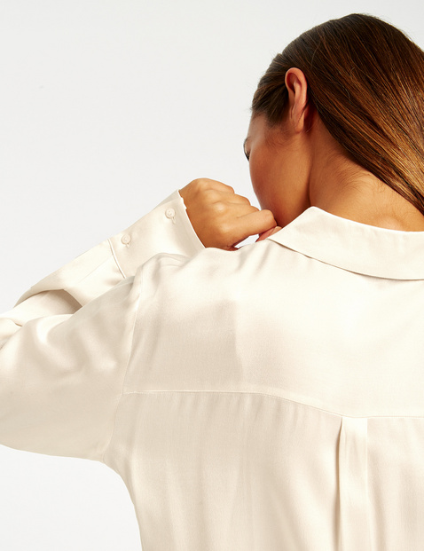 Flowing satin blouse