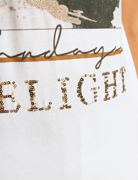 T-shirt z nadrukiem na przodzie z bawełny ekologicznej
