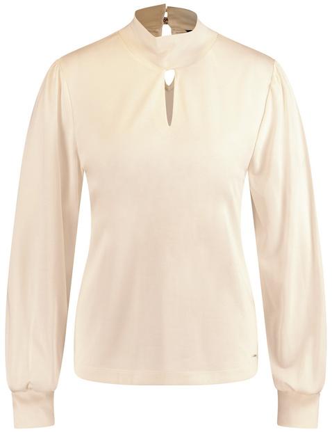 Feminines Shirt mit Stehkragen