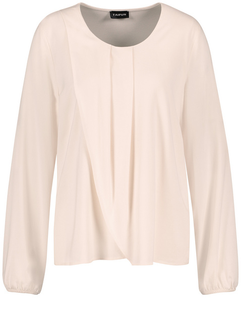 Blouse top with a wrap effect