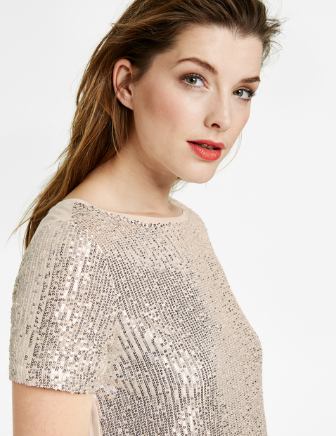 Blouse top with sequins