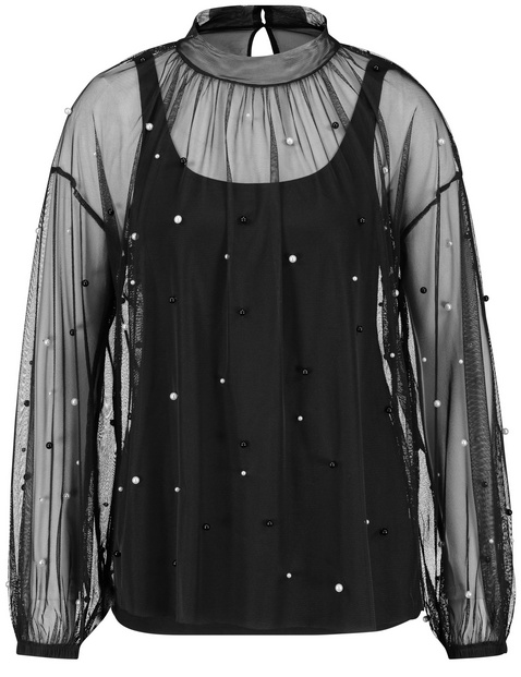Blouse top with decorative beads