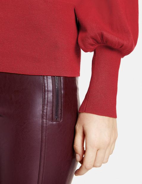 Sweter z balonowymi rękawami