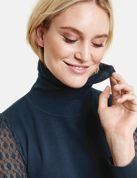 Pullover mit Spitzenärmeln