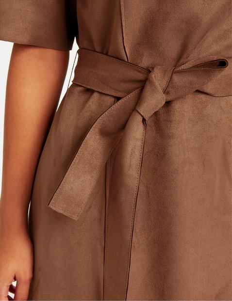 Kleid mit Veloursleder-Optik