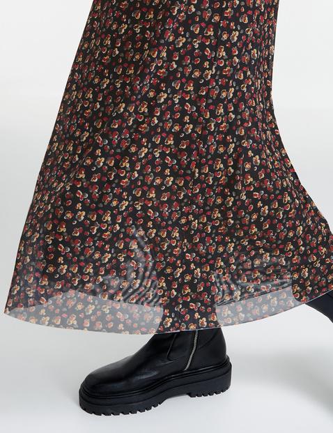 Midi-jurk van zachte mesh