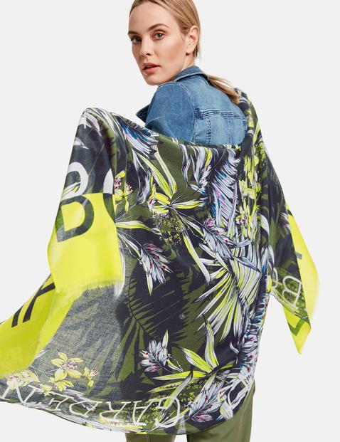 Leichter Schal mit exotischem Print