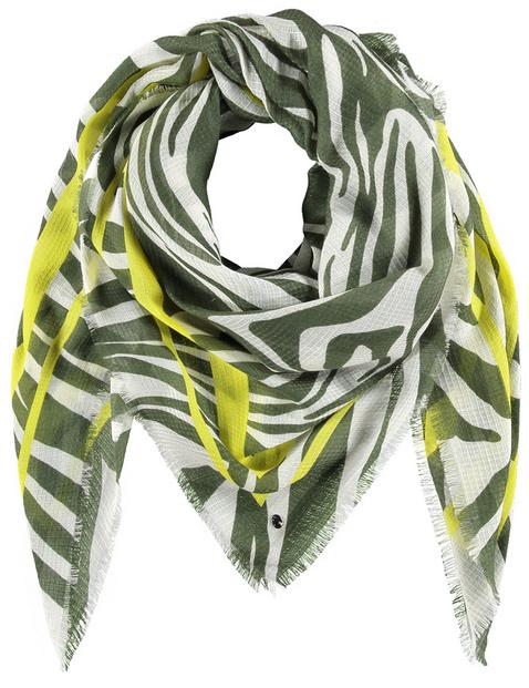 Lightweight scarf with a zebra print
