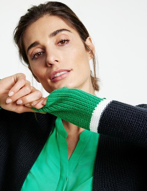 Open cardigan in a striped design