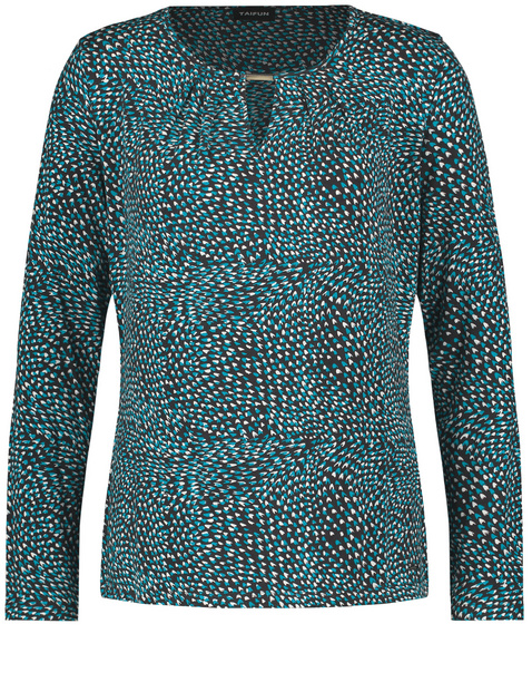 Long sleeve top with an all-over print