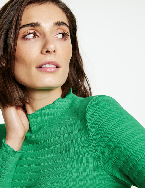 Long sleeve top in textured jersey