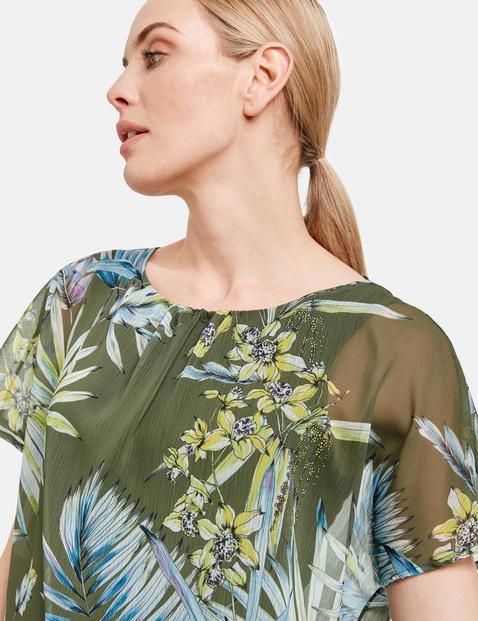 2-in-1 blouseachtig shirt met bloemenprint