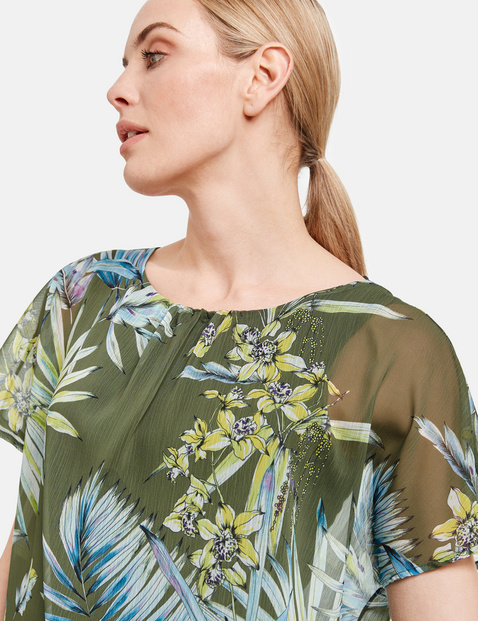 2-in-1 Blusenshirt mit Floral-Print