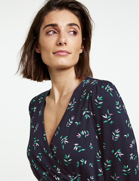 Jerseykleid mit Wickel-Optik