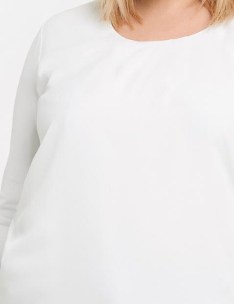 Shirt met chiffonmix