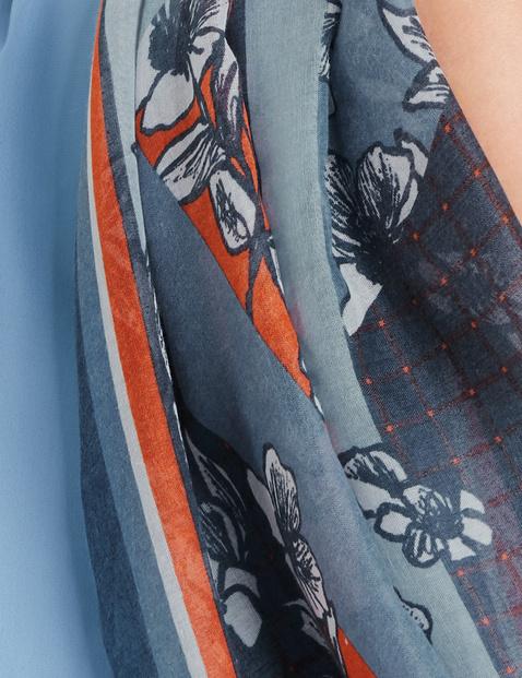 Leichter Schal mit Muster-Mix