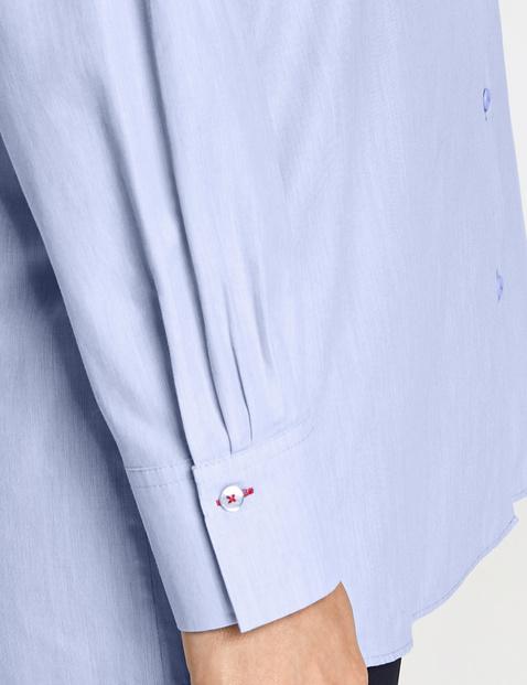 Lange Hemdbluse aus Baumwolle