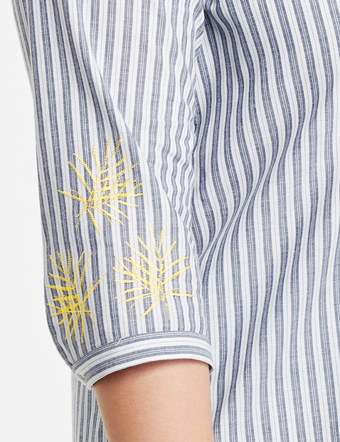 Longbluse mit Streifen