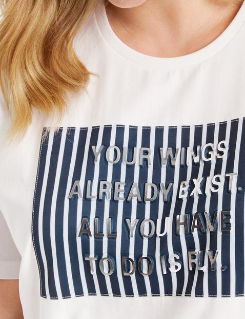 Shirt mit Präge-Motiv