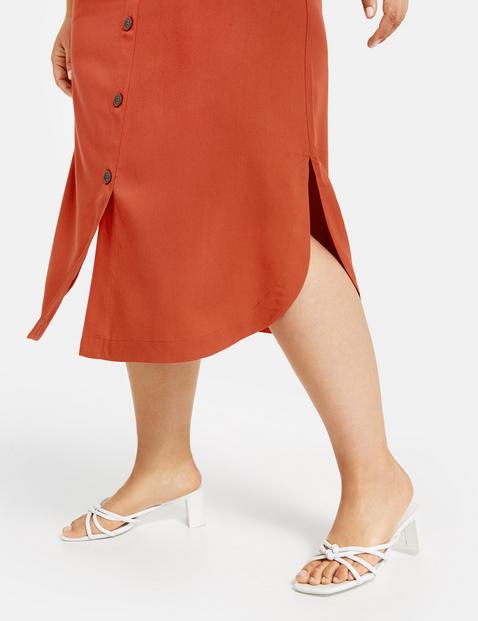 Spódnica midi z listwą guzikową