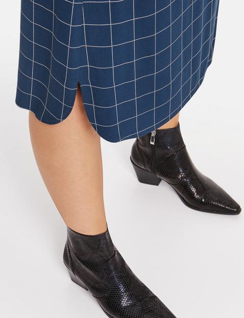Midi skirt in a check design