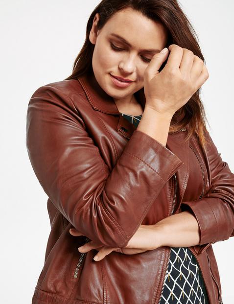 Biker-style leather jacket