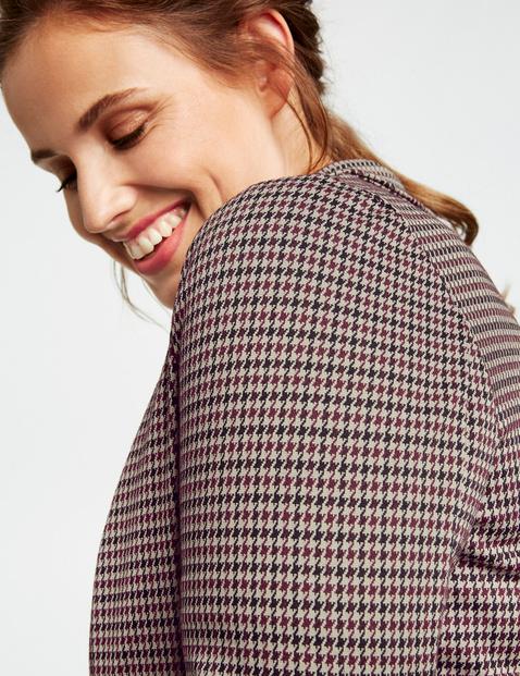 Jersey blazer met ruitmotief