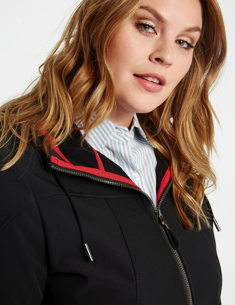 Windproof and water-repellent softshell jacket