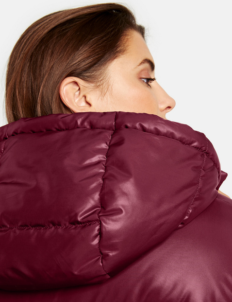 Matte shiny quilted jacket