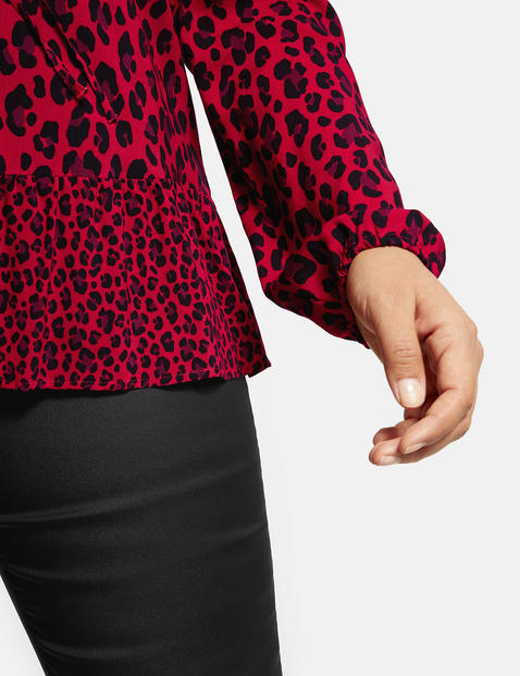 Flared animal print tunic