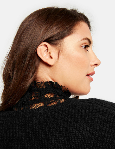 Blouse collar collar insert made of tulle lace
