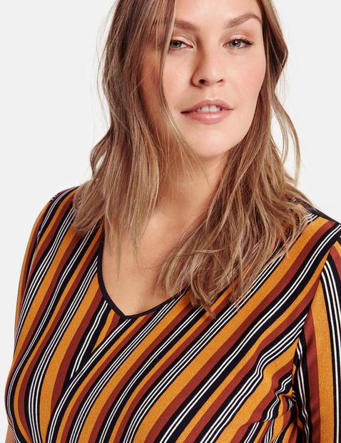 Gestreept shirt met glittereffect