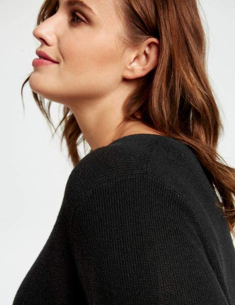 Long-Pullover mit Seitenschlitz