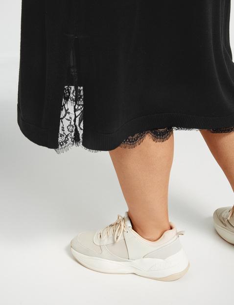 Gebreide jurk met onderjurk