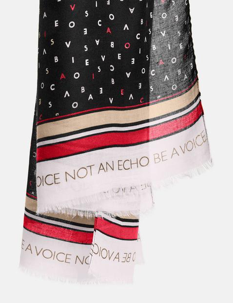 Sjaal met tekstprint
