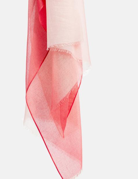 Schal mit Farbablauf
