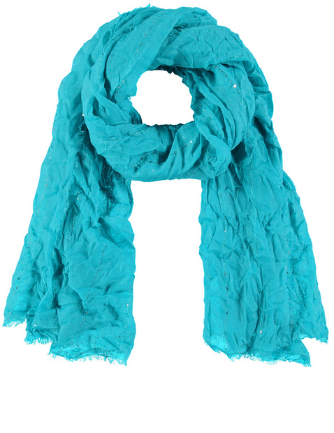 Scarf with a crushed effect