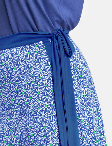 Summer skirt with a floral pattern