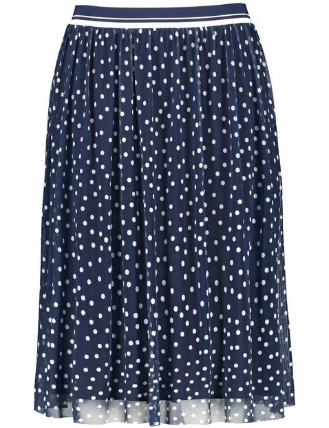 Midi skirt with polka dots