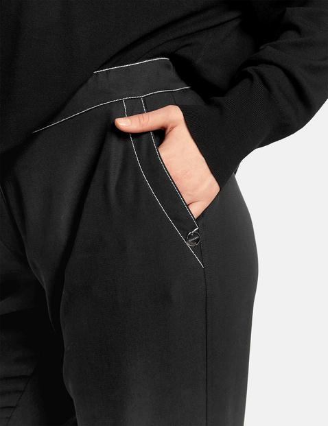 Spodnie palazzo z kontrastowym stębnowaniem, Carlotta