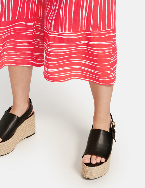 Lotta culottes with a striped pattern