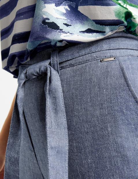 Spodnie paperbag Mia z wiązanym paskiem