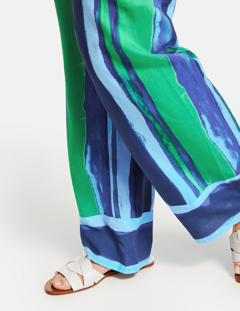 Carlotta Palazzo trousers with a striped pattern