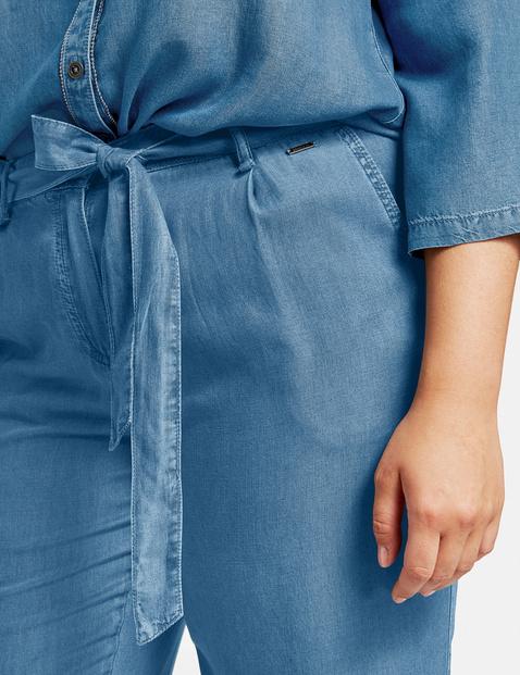 Modne spodnie z lyocellu w denimowym stylu