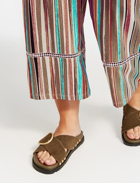 Culottes in a striped design